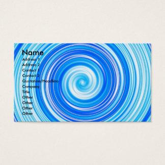 Remous bleus cartes de visite