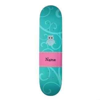 Remous bling nommés de turquoise de diamants de hi skateboard customisable