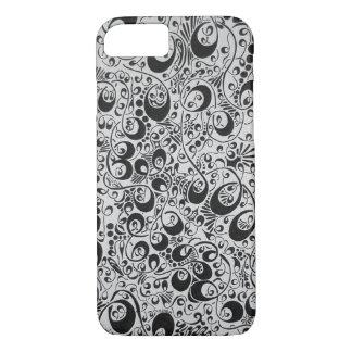 Remous, boucles, et points noirs et blancs coque iPhone 7