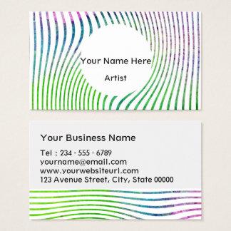 Remous coloré de rayure d'aquarelle cartes de visite