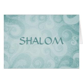 Remous de bleu de Shalom Cartes