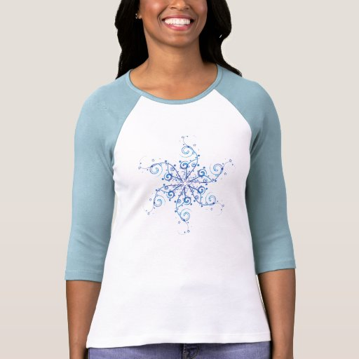 Remous de flocon de neige t-shirt