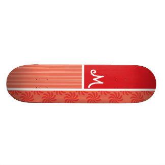 Remous de rouge et d'orange ; Remous Skateboards Cutomisables