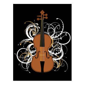 Remous de violon cartes postales