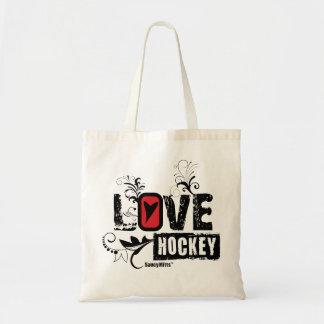 Remous d'hockey d'amour des filles des femmes tote bag