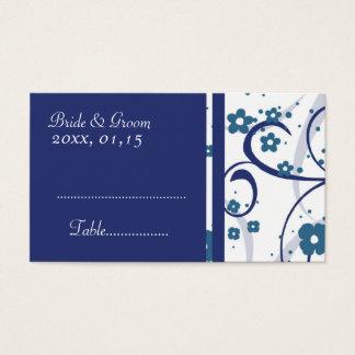 Remous floraux bleus épousant des cartes de