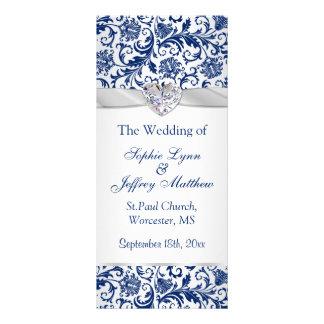 Remous floraux de bleu royal sur le programme de doubles cartes