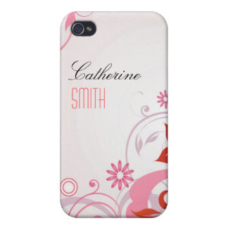 Remous floraux roses étui iPhone 4/4S