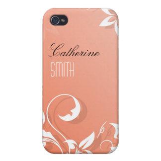 Remous floraux roses coque iPhone 4