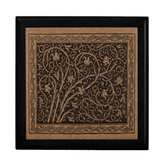 Remous floraux vintages de Brown Boîte À Souvenirs