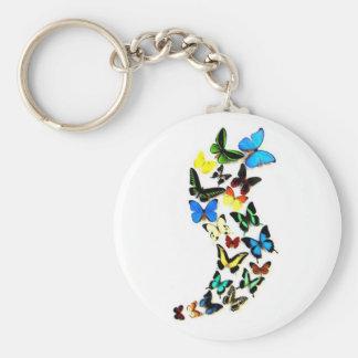 Remous Keychain de papillon Porte-clef
