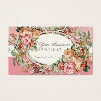 Remous modernes antiques vintages de bouquet cartes de visite