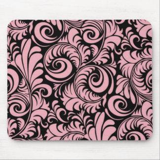 Remous Mousepad de rose et de noir Tapis De Souris
