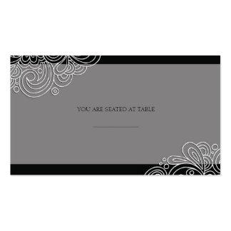 Remous noir vintage épousant Placecards Carte De Visite Standard