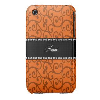 Remous nommés personnalisés d orange coque iPhone 3