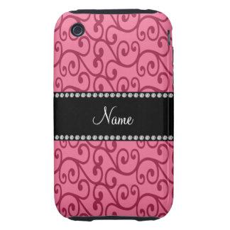 Remous nommés personnalisés de rose coques tough iPhone 3