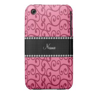 Remous nommés personnalisés de rose coques iPhone 3