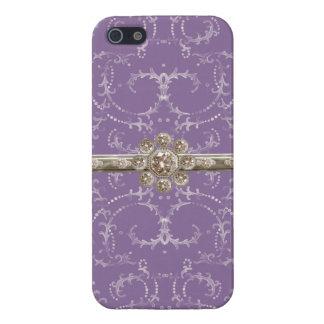 Remous octogonaux de diamant de Bling d'argent de  Coque iPhone 5