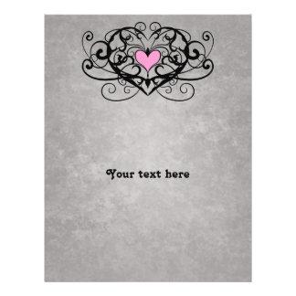 Remous romantiques et mariage rose de coeur prospectus 21,6 cm x 24,94 cm
