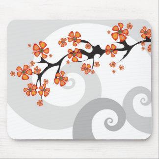 Remous tropical Mousepad de fusion de fleur Tapis De Souris
