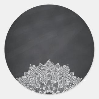 Remous vide de fleur de Lotus de mandala de Sticker Rond