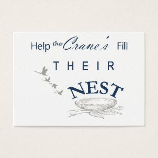 Remplissez carte de nid