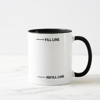 Remplissez ligne, ligne de recharge tasses