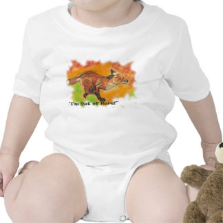 """Renard courant, chemise de bébé.  """"Je suis hors d' Bodies Pour Bébé"""