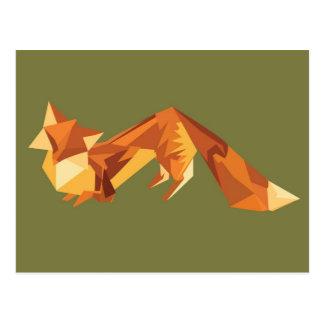 Renard d origami cartes postales