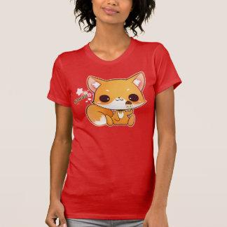 Renard de Kawaii avec la glace mignonne T-shirts