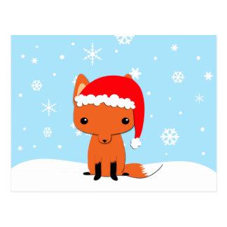 Renard de Noël Carte Postale