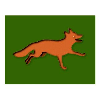 Renard fox carte postale