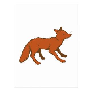 Renard fox cartes postales