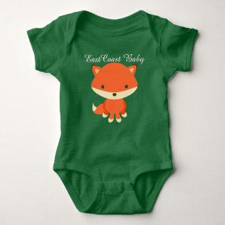 Renard mignon de bébé de Côte Est T-shirt