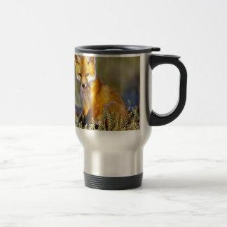 renard rouge de petit bébé mignon mug de voyage en acier inoxydable