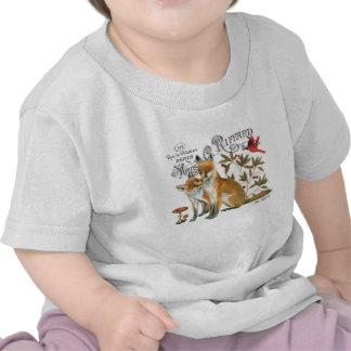 renard vintage moderne de région boisée t-shirt