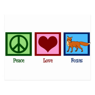Renards d amour de paix carte postale