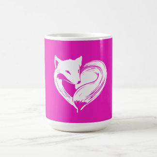 Renards d'amour - blanc de tasse