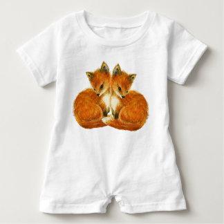Renards jumeaux de bébé t-shirt