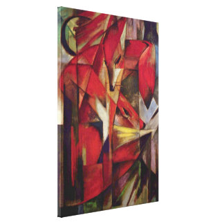 Renards par Franz Marc, art abstrait de cubisme de Toiles