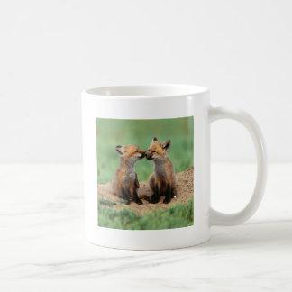 Renards rouges de bébé mug à café