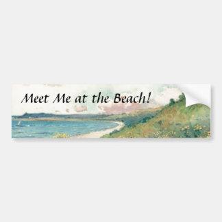 Rencontrez-moi à la plage ! Adhésif pour pare-choc Autocollant De Voiture