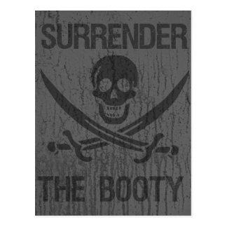 Rendez les pirates d'arrrhhh de butin ! carte postale