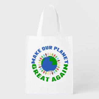 Rendez notre planète grande encore sac réutilisable