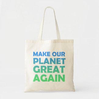Rendez notre planète grande encore sacs de toile