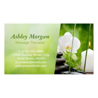 Rendez-vous de salon de méditation de thérapeute carte de visite standard