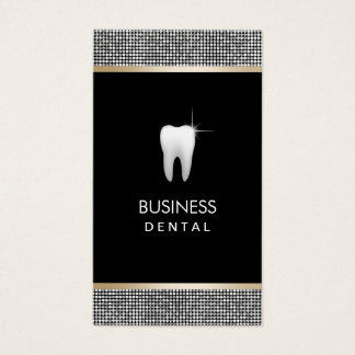 Rendez-vous dentaire de frontière argentée moderne cartes de visite