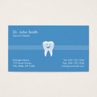 Rendez-vous dentaire de sourire brillant bleu de cartes de visite