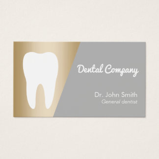 Rendez-vous dentaire d'or moderne de dentiste cartes de visite