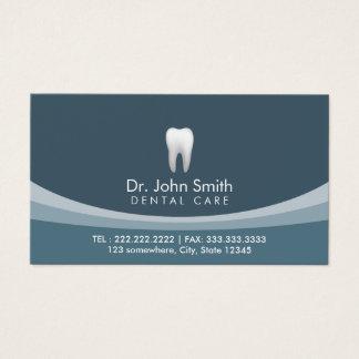 Rendez-vous dentaire professionnel bleu moderne cartes de visite